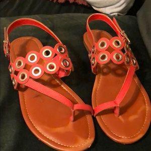 Max Studio Orange Sandals. Women's Size 9